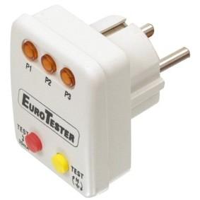 tester voor stopkontakten el eurotester deze testplug controleert het stopcontact op aanwezige. Black Bedroom Furniture Sets. Home Design Ideas