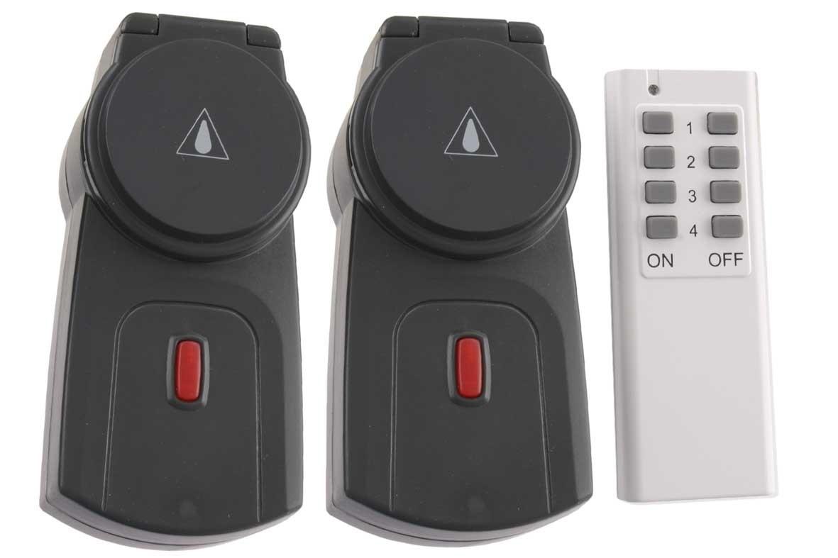 Stopcontact voor buiten met afstandsbediening